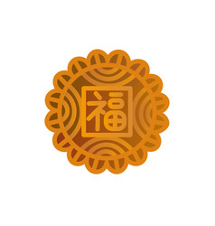 Mooncake icon symbol of mid-autumn festival vector