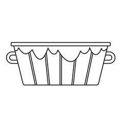 old wooden bucket icon outline style vector image