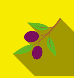Olive icon flate singe vegetables icon from the vector