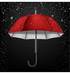 Open umbrella and snow vector