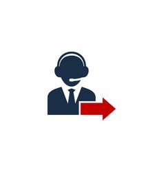 Out call center logo icon design vector