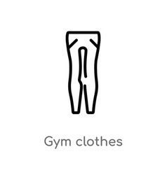 outline gym clothes icon isolated black simple vector image