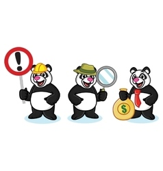 Panda Mascot with money vector image