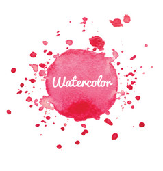 pink watercolor splash background vector image