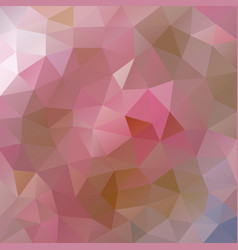 polygonal background in autumn pink tones vector image