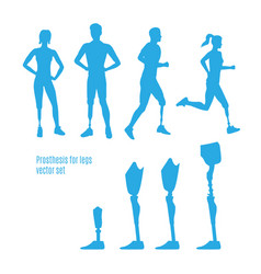 prosthesis for legs silhouettes vector image vector image