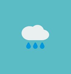 rain icon flat element of vector image