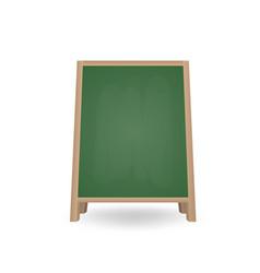 realistic blank chalkboard a-frame standee street vector image