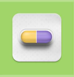 Realistic pill vector