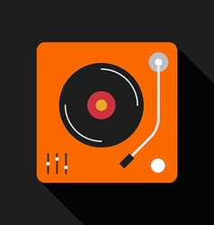 Retro vintage gramophone flat design isolated icon vector
