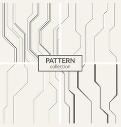 set of four abstract seamless pattern of lines vector image