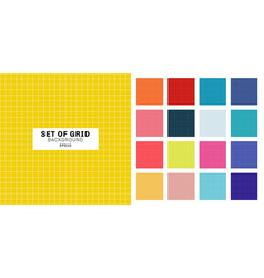 set white line grid striped geometric seamless vector image