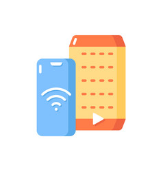 smart speaker flat color icon vector image