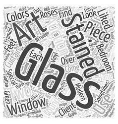 Stained glass art auctions Word Cloud Concept vector