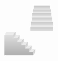 stairs 3d realistic staircases vector image