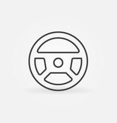 Steering wheel linear concept minimal icon vector