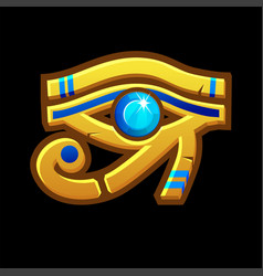 Symbol or amulet ancient egyptian eye vector