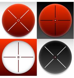 Target mark cross hair set graphics vector