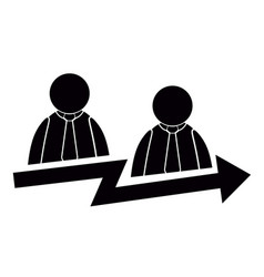 Teamwork success concept icon vector