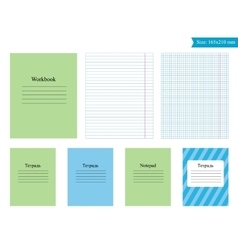 Template for leaves notebook vector