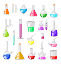 Test-tube flask chemical glass test tubes vector
