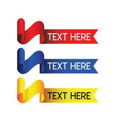 Text label logo template design vector