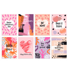 valentines day s card templates set vector image