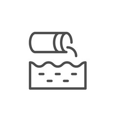 Wastewater line icon vector