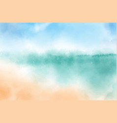 watercolor blurred beach seascape background vector image