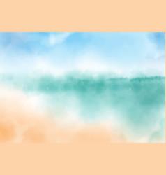 Watercolor blurred beach seascape background vector