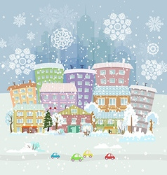 winter city life vector image
