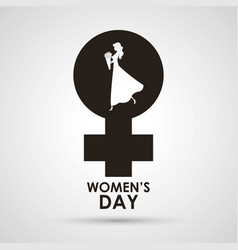 womens day gender girl card vector image