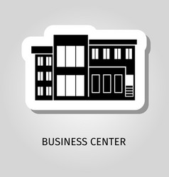 business center black building sticker vector image
