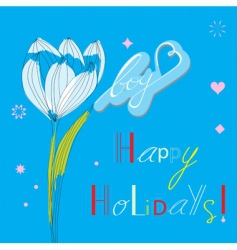 holidays for boys vector image