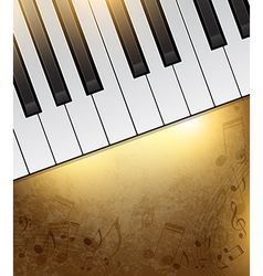 piano banner vector image vector image