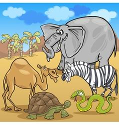 african safari animals cartoon vector image vector image
