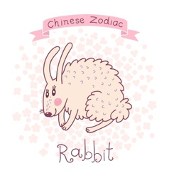 Chinese Zodiac - Rabbit vector image vector image