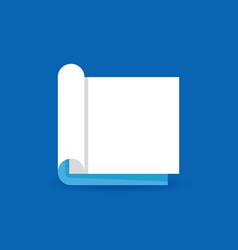 flat open book concept icon or logo element vector image
