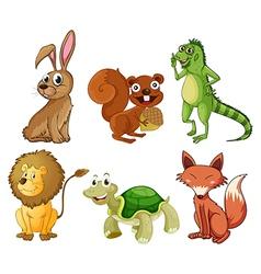 Four-legged animals vector image vector image