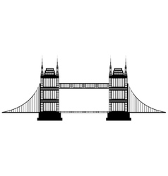 isolated tall bridge graphic vector image