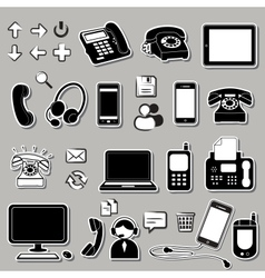 Set of electronic symbols vector image vector image