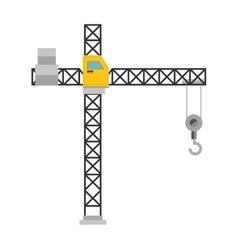 crane conatruction isolated icon vector image