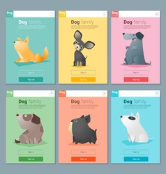 Animal banner with Dog for web design 3 vector image