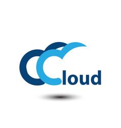 Cloud logo vector