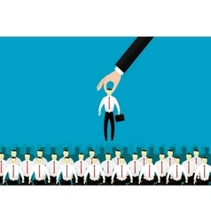 concept of searching for professional stuff vector image