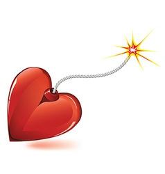 heart love bomb vector image