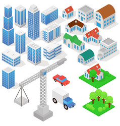 industrial based on isometric projection of a vector image