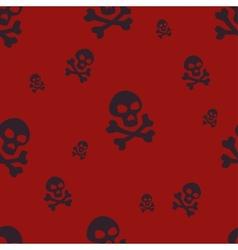 Skull Pattern Red vector image vector image