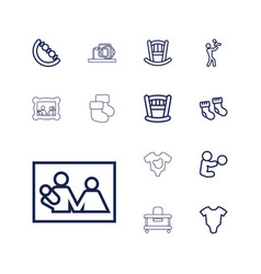 13 newborn icons vector