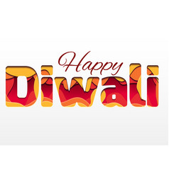 3d inscription of the festival diwali made of vector image